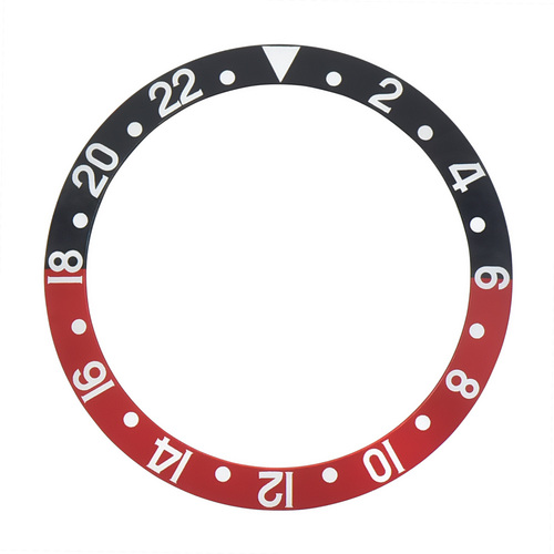 BEZEL INSERT FOR ROLEX GMT FAT FONT 1670 1675 16750 16753 16758 BLACK/RED COKE