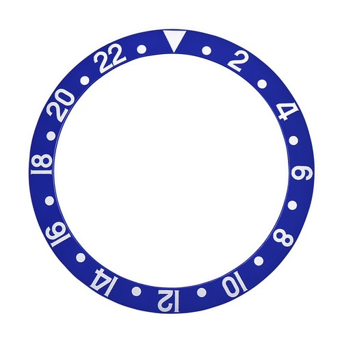 BEZEL INSERT FOR ROLEX GMT FAT FONT MODEL 1670 1675 16750 16753 16758 BLUEBERRY