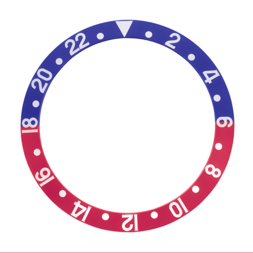 BEZEL INSERT FOR PEPSI ROLEX GMT FAT FONT 1670 1675 16750 16753 16758 BLUE/RED