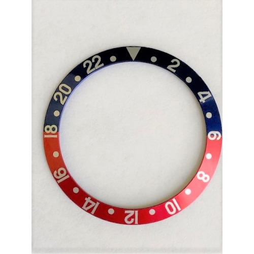 BEZEL INSERT FOR ROLEX GMT FAT FONT 1670 1675 16750 16753 16758 BLUE/RED PEPSI