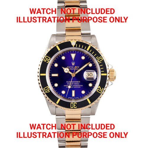 BEZEL + INSERT +RETAINING FOR ROLEX SUBMARINER 18K REAL GOLD 16800 16610LN BLACK