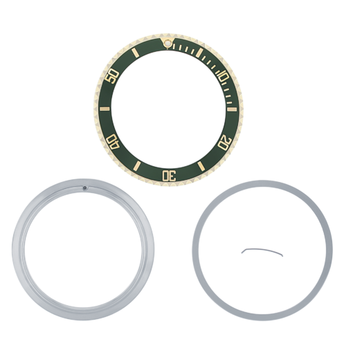 BEZEL ,INSERT & RETAINING FOR ROLEX SUBMARINER WATCH 16610LV 16610 50TH GREEN