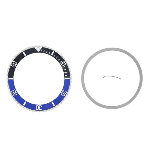 BEZEL & INSERT FOR ROLEX SUBMARINER 16800 16808 16610 16818 BATMAN BLACK/BLUE
