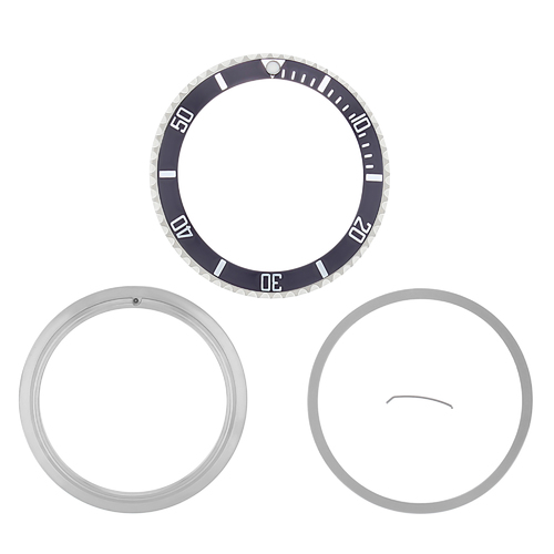 BEZEL & INSERT & RETAINING FOR ROLEX SUBMARINER 16800 16808 16610 16613 16810 GREY