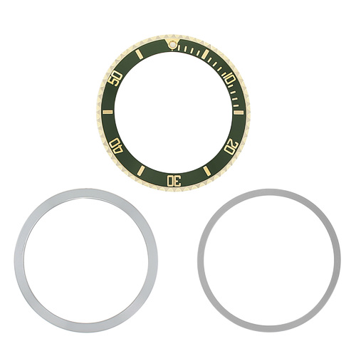 BEZEL INSERT RETAINING  FOR ROLEX SUBMARINER 18K REAL GOLD 5508 5512 5513 GREEN