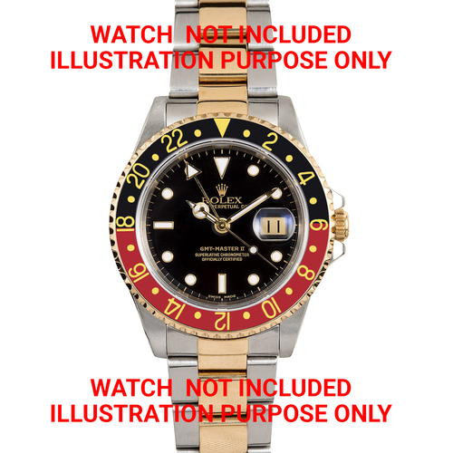 BEZEL,INSERT,RETAINING FOR  ROLEX GMT 18K GOLD 16700 16710 16718 16713 BLACK/RED