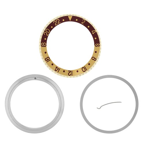 BEZEL & INSERT & RETAINING FOR ROLEX ROOT BEER GMT GP 16700 16710 16753 BROWN /G