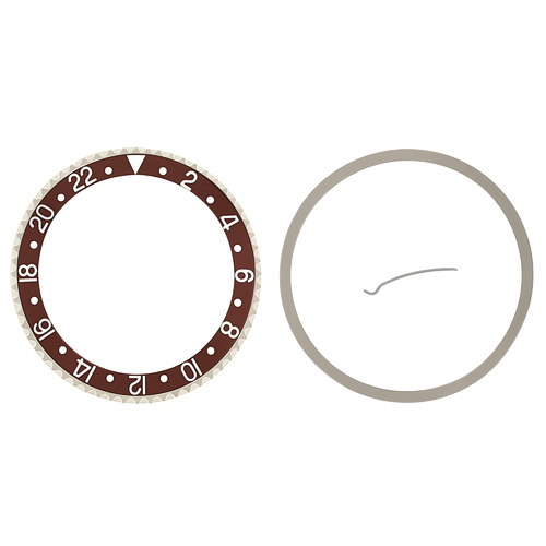 BEZEL & INSERT & RETAINING FOR ROLEX GMT SAPAHIRE 16700 16710 16718 BROWN SILVER