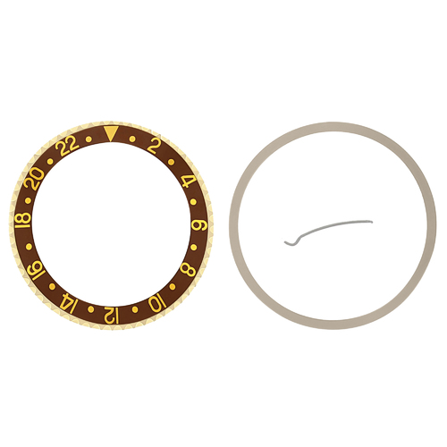 BEZEL+ INSERT FOR ROLEX NEW GMT 16700 16710 16713 16718 16760 SAPPHIRE BROWN GP