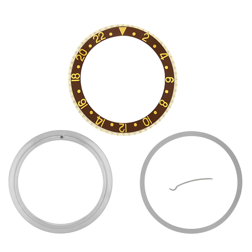 BEZEL+ INSERT RETAINING FOR ROLEX NEW GMT 16700 16710 16713 16718 16760 BROWN GP