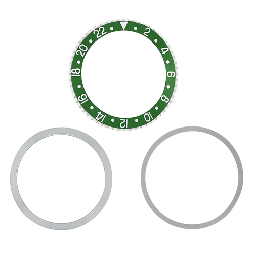 BEZEL+ INSERT RETAINING FOR ROLEX STEEL GMT 1670 1675 16750 16753 GREEN