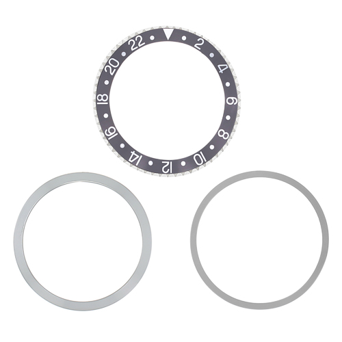 BEZEL & INSERT & RETAINING FOR VINTAGE ROLEX GMT I 1675,16750,16753,16758 GREY