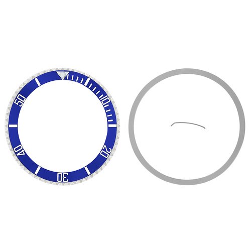BEZEL & CERAMIC INSERT FOR ROLEX SUBMARINER 16800 16803 16608 16610 16613 BLUE