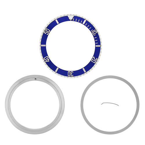 BEZEL CERAMIC INSERT RETAINING FOR ROLEX SUBMARINER 16800 16808 16618 16610 BLUE