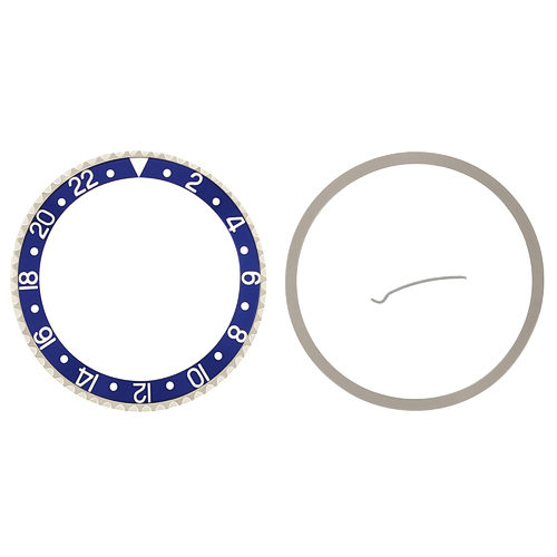 BEZEL & CERAMIC INSERT FOR ROLEX GMT 16700, 16718,16710,16760 SAPPHIRE BLUEBERRY