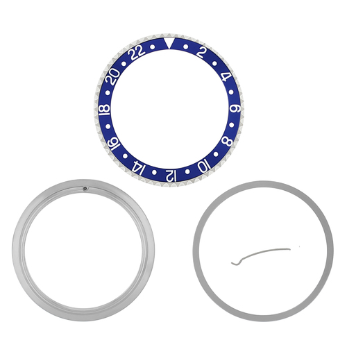 BEZEL, CERAMIC INSERT & RETAINING FOR ROLEX GMT II 16700 16718 16710 16760 BLUE