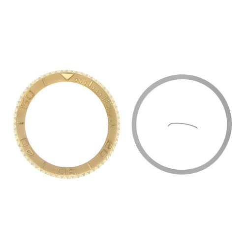 BEZEL & INSERT FOR 40MM ROLEX YACHTMASTER 16622 16623 116622 116623 GOLD