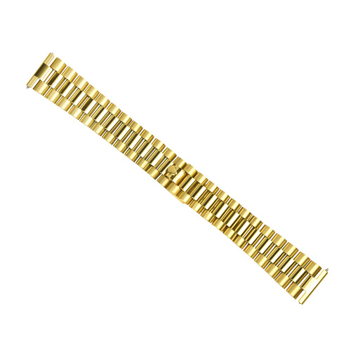 20MM PRESIDENT WATCH BAND FOR 36MM ROLEX DATE, DATEJUST GOLD STRAIGHT END