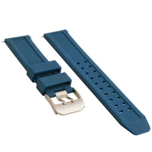 23MM LUMINOX EVO RUBBER BAND STRAP 3050 3950 NAVY SEAL COLORMARK BLUE  BUCKLE