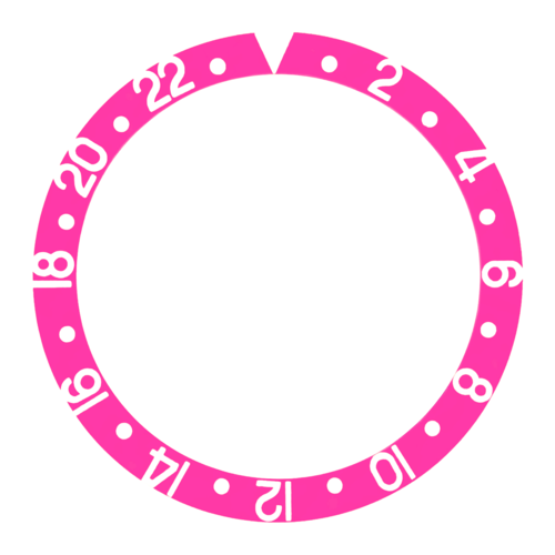 BEZEL INSERT FOR VINTAGE ROLEX GMT FOR 16700 16713 16718 16760 WITH PINK