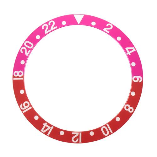 BEZEL INSERT FOR ROLEX VINTAGE GMT FAT FONT 1670 1675 16750 16753 16758 PINK/RED