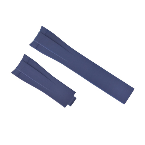 21MM SILICONE WATCH STRAP BAND FOR 40MM ROLEX YACHTMASTER 116655 OYSTERFLEX BLUE