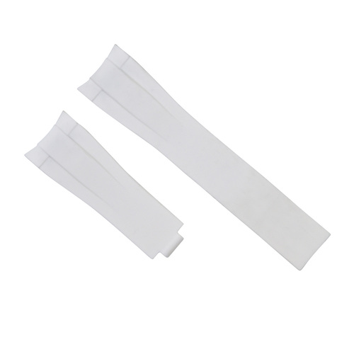 21MM SILICONE WATCH STRAP BAND FOR ROLEX YACHTMASTER 116655 OYSTERFLEX WHITE