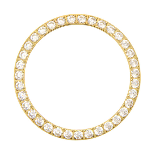 3 CT CREATED DIAMOND BEZEL FOR ROLEX DATEJUST PRESIDENT DAY DATE 3 CT GOLD COLOR