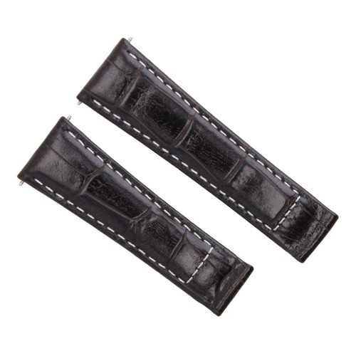 LEATHER BAND STRAP CLASP FOR ROLEX DAYTONA 16518 16519 16520 116528 BROWN LONG