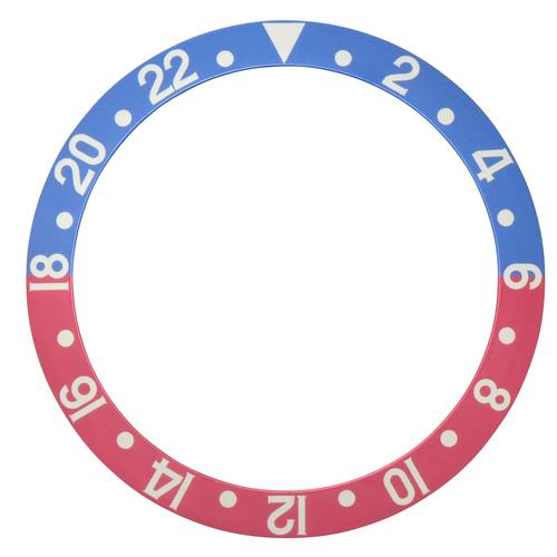 BEZEL INSERT FADED FOR VINTAGE ROLEX GMT 16700 16710 16713 16718 16760 BLUE/RED