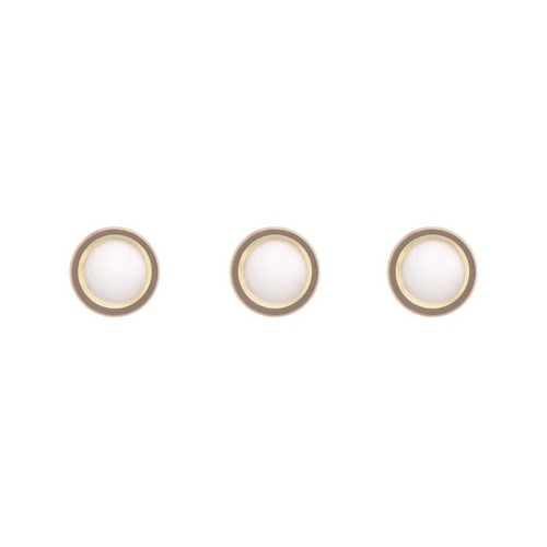 3 PEARL DOT FOR BEZEL INSERT PIP ROLEX SUBMARINER 16800 16808 16610 16613 GOLD
