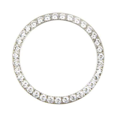 3 CT CREATED DIAMOND BEZEL FOR MENS  ROLEX DATEJUST 1601 16013,16233,16234 WHITE