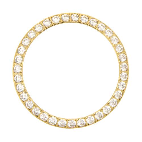 3 CT CREATED DIAMOND BEZEL FOR ROLEX DATEJUST PRESIDENT 1601 16013,16233 GOLD