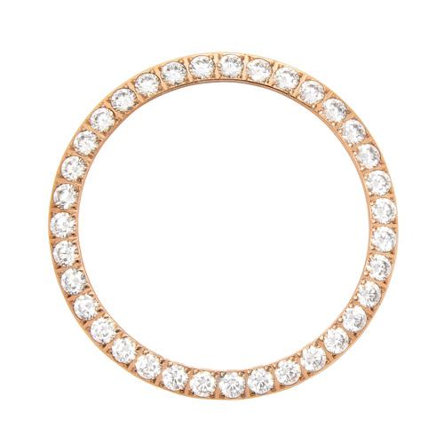 3 CT CREATED DIAMOND BEZEL FOR ROLEX DATEJUST PRESIDENT 1601 16013,16233 ROSE