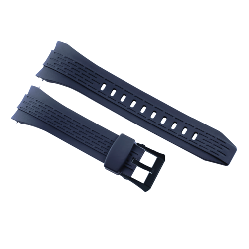 26MM RUBBER WATCH BAND STRAP FOR SEIKO VELATURA KINETIC WATCH SRH006/SPC007 BLUE