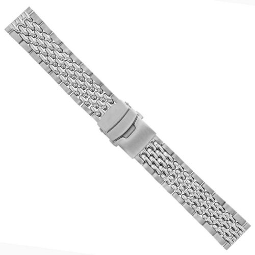 24MM BEAD OF RICE WATCH BAND FOR BREITLING SUPER OCEAN HERITAGE II AB2020 WATCH