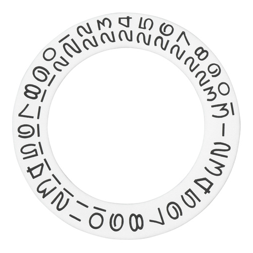 WHITE DATE DISC WHEEL OVERLAY FOR FIT ROLEX 3130 - 3135 DATEJUST DAYDATE GMT
