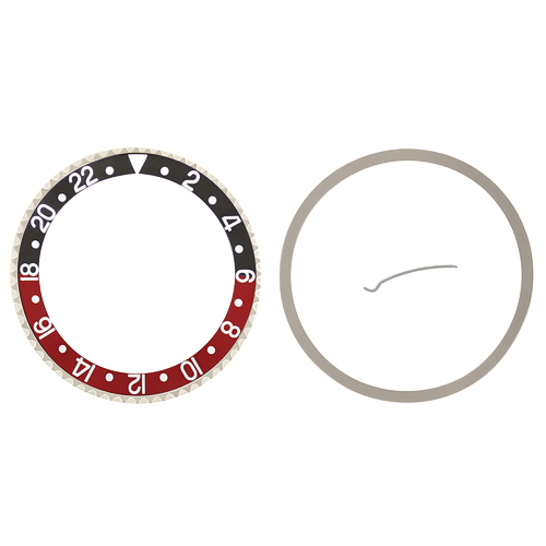 ROTATING BEZEL AND INSERT FOR ROLEX GMT 16700 16710 16713 16718 16760 BLACK/RED