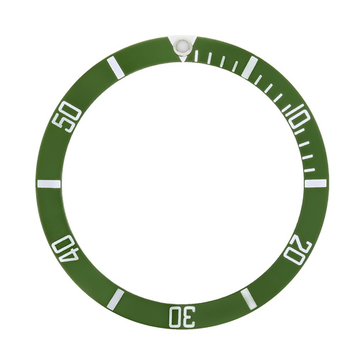 GREEN BEZEL INSERT ALUMINUM FOR ROLEX SUBMARINER 16610LV , 16610T