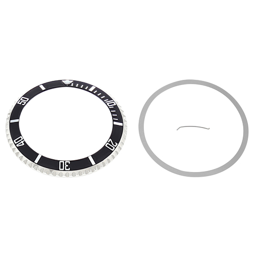 ROTATING BEZEL + INSERT FOR ROLEX SEA DWELLER 16600,  16660  INSTALLED BLACK