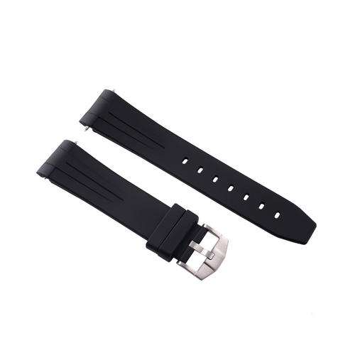 20MM RUBBER CURVE WATCH BAND FOR 40MM GINAULT OCEAN ROVER 181070 181270 BLACK