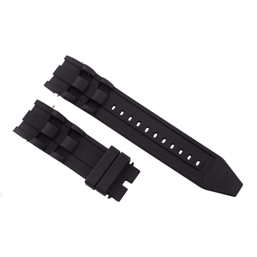 26MM RUBBER WATCH BAND FOR INVICTA DIVER 6977 6978 6981 6983 RESERVE SQUABA BLACK