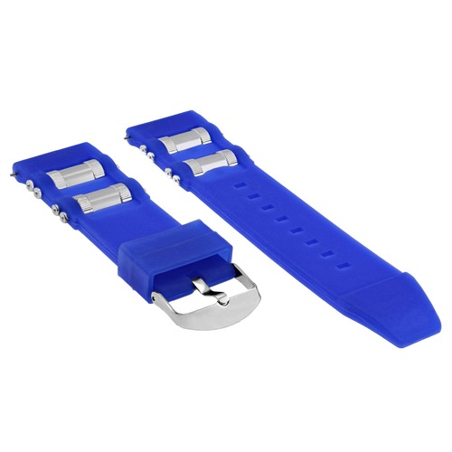 26MM RUBBER WATCH BAND STRAP FOR INVICTA RUSSIAN DIVER 1089 1201 1805 3469 BLUE