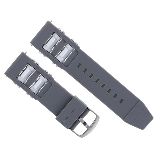 26MM RUBBER WATCH BAND STRAP FOR INVICTA RUSSIAN DIVER 1201 1805 1845 1959 GREY