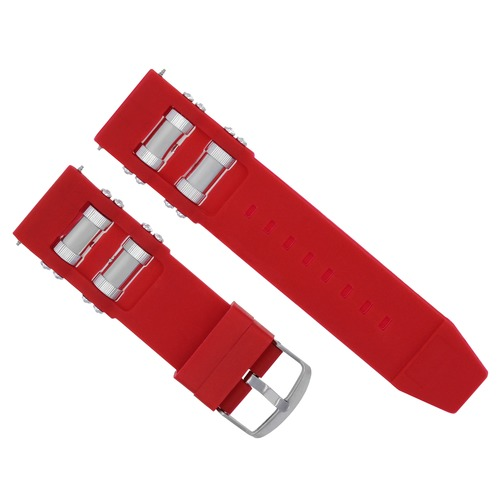 26MM RUBBER WATCH BAND STRAP FOR INVICTA RUSSIAN WATCH DIVER 1201 1805 1845 RED