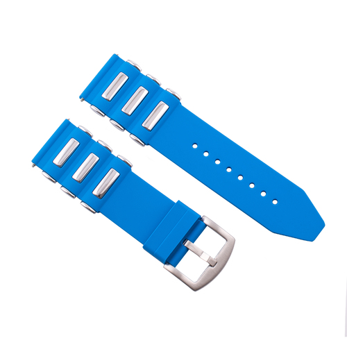 26MM SILICONE RUBBER DIVER BAND STRAP FOR INVICTA EXCURSION 18202 WATCH L/BLUE