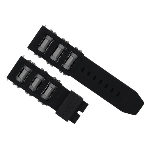 26MM RUBBER DIVER WATCH BAND STRAP FOR INVICTA 1201 1805 1845 1959 18202 BLACK