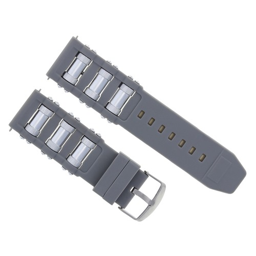 RUBBER WATCH BAND STRAP FOR INVICTA RUSSIAN DIVER 1201 1805 1845 1959 18202 GREY