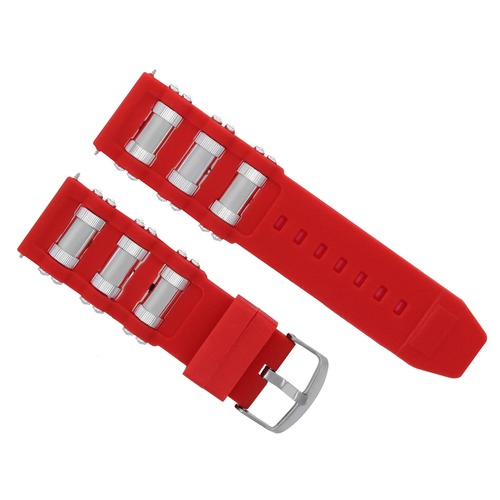 26MM RUBBER WATCH STRAP FOR INVICTA RUSSIAN 1201 1805 1845 1959 18202 11152 RED