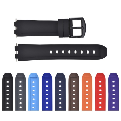REPLACEMENT SILICONE RUBBER DIVER WATCH STRAP BAND FOR PEBBLE STEEL